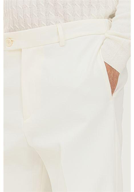 Pantaloni uomo panna alessandro dell'acqua taglio classico ALESSANDRO DELL'ACQUA | Pantaloni | AD7339/P0095E11