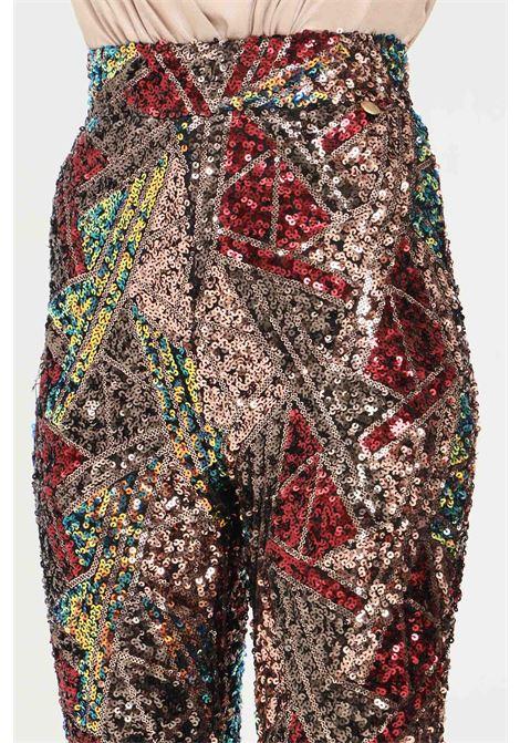 Pantaloni donna fantasia alma sanchez elegante con paillettes ALMA SANCHEZ | Pantaloni | MARAMULTICOLOR
