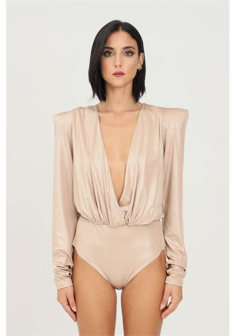 Body donna oro alma sanchez elegante con spalline interne ALMA SANCHEZ | Body | PATRICIABRONZO