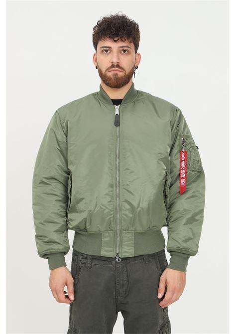 Green orange men's jacket by alpha industries, reversible model with zip on the front ALPHA INDUSTRIES | Jacket | 10010101