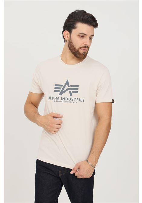 Beige men's t-shirt by alpha industries with contrasting print short sleeve ALPHA INDUSTRIES | T-shirt | 100501578