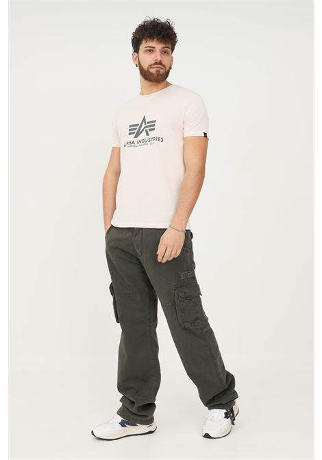 Pantaloni uomo grigio alpha industries casual con tasconi ALPHA INDUSTRIES   Pantaloni   101212136
