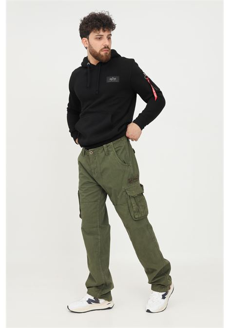 Green men's trousers by alpha industries casual model with pockets ALPHA INDUSTRIES | Pants | 101212142