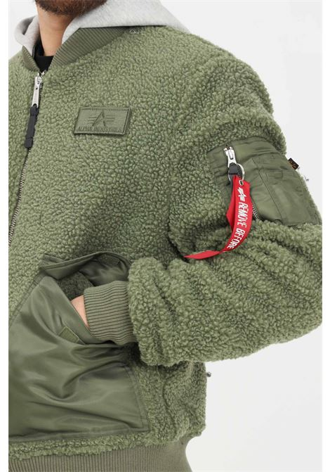 Green men's bomber jacket by alpha industries with hood ALPHA INDUSTRIES | Jacket | 11812001