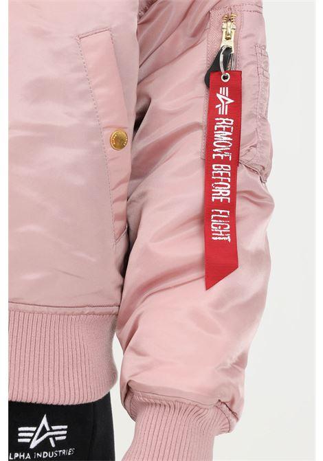 Giubbotto rosa donna alpha industries con pelliccia interna modello reversibile ALPHA INDUSTRIES | Giubbotti | 128002397