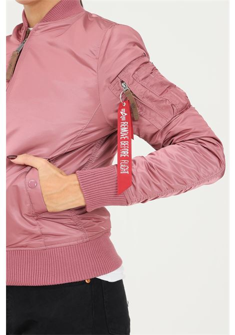 Giubbotto donna rosa alpha industries con zip frontale ALPHA INDUSTRIES | Giubbotti | 13300960