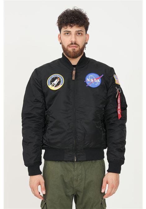 Black men's bomber jacket by alpha industries with front zip ALPHA INDUSTRIES | Jacket | 16610703