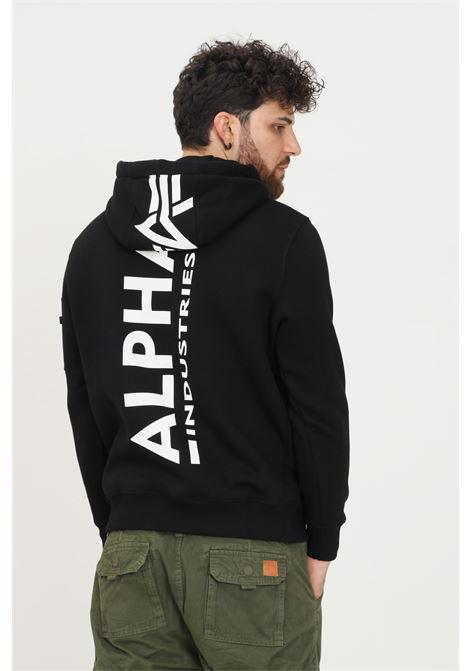 Black men's hoodie by alpha industries ALPHA INDUSTRIES | Sweatshirt | 17831803