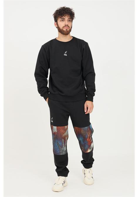 Pantaloni uomo nero australian modello casual con stampe AUSTRALIAN | Pantaloni | HCUPA0019003