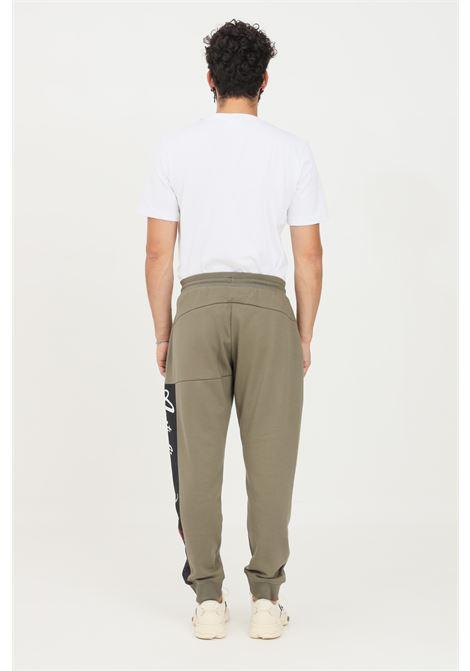 Pantaloni uomo verde australian modello casual con logo laterale AUSTRALIAN | Pantaloni | SWUPA0007104