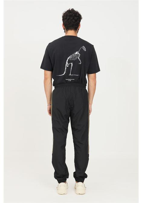 Black men's pants by australian casual model with contrasting inserts  AUSTRALIAN | Pants | SWUPA0012003