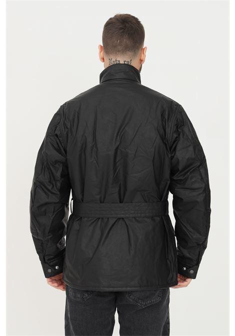 Giubbotto uomo nero barbour con cintura in vita BARbour INTERNATIONAL | Giubbotti | 212-MCA0748 MCABK11