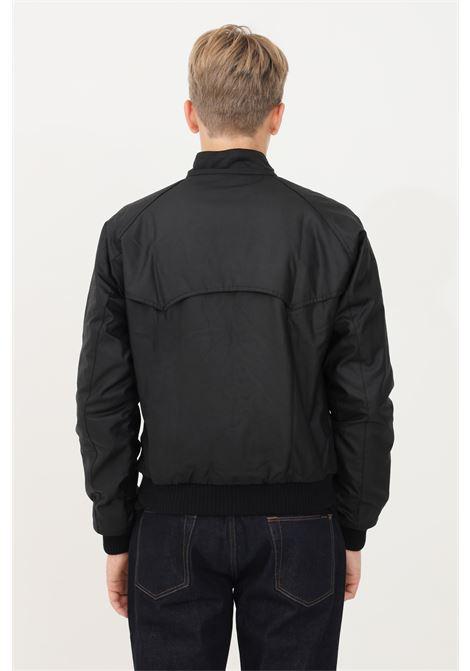 Giubbotto reelin uomo nero barbour con colletto a costine BARbour INTERNATIONAL | Giubbotti | 212-MWX0465 MWXBK71