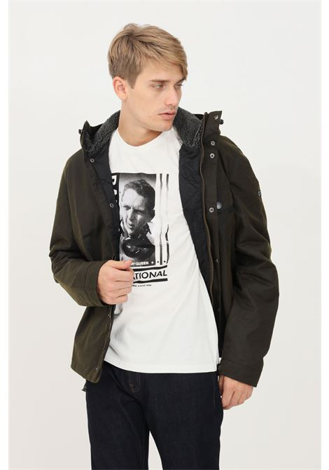Bomber uomo verde barbour con zip e cappuccio BARbour INTERNATIONAL | Giubbotti | 212-MWX1372 MWXOL51
