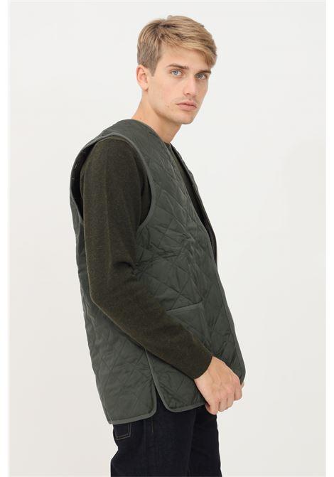 Green men's jacket by barbour with zip sleeveless model BARbour | Jacket | 212-MLI0001 MLIGN92