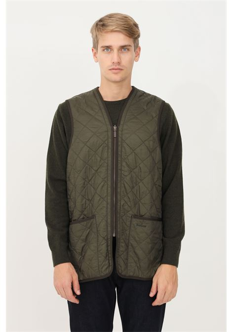 Green men's jacket by barbour, quilted and sleeveless model BARbour | Jacket | 212-MLI0002 MLIOL91