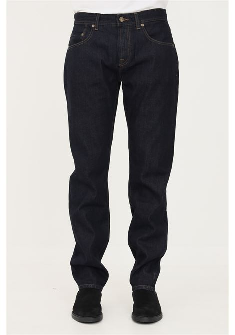 Blue men's jeans by barbour with zip and button BARbour | Jeans | 212-MTR0588 MTRNY97