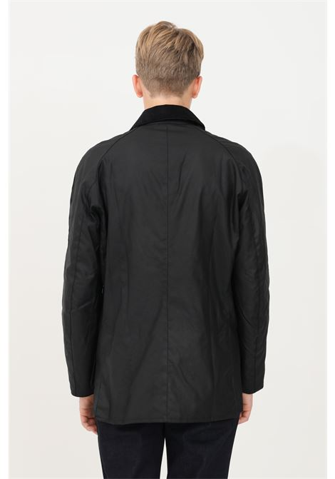 Black men's bomber jacket by barbour, closure with zip and buttons BARbour | Blazer | 212-MWX0339 MWXBK71