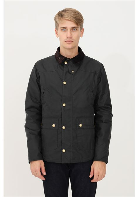 Green men's bomber jacket by barbour zip and press studs closure BARbour | Jacket | 212-MWX1106 MWXSG51