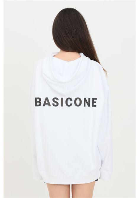 White unisex hoodie with laces. Basic one BASIC ONE | Sweatshirt | BSC1H1BIANCO