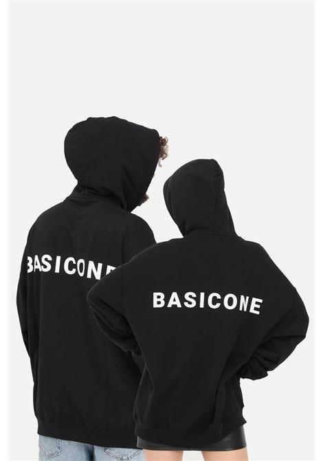 Black unisex hoodie with laces. Basic one BASIC ONE | Sweatshirt | BSC1H1NERO