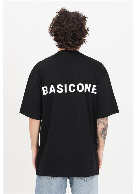 Black unisex t-shirt with short sleeves. Basic one BASIC ONE | T-shirt | BSC1T1NERO
