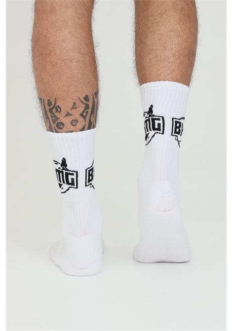 White unisex socks with contrasting bhmg logo BHMG | Socks | 028378001