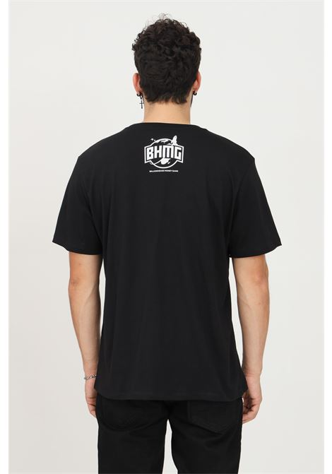 Black unisex t-shirt by bhmg with maxi flame print on the front, short sleeve BHMG | T-shirt | 031267110