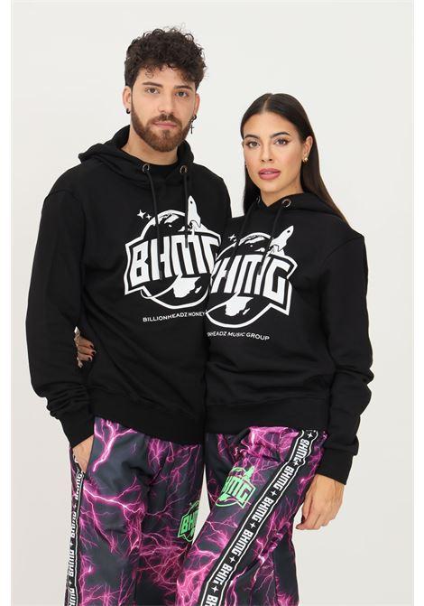 Felpa unisex nero bhmg con cappuccio BHMG | Felpe | 031270110