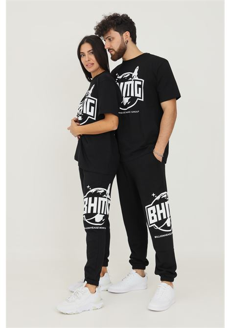 Black unisex trousers by bhmg with side fluo logo BHMG | Pants | 031273110