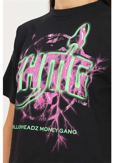 Black women's t-shirt by bhmg with short sleeve, short cut BHMG | T-shirt | 031320110