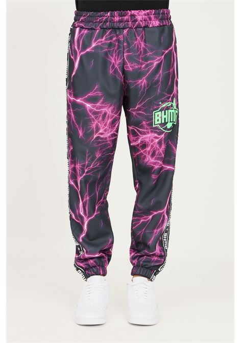 Violet unisex trousers by bhmg, casual model with allover print BHMG | Pants | 031323110