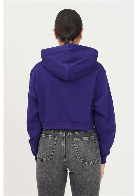 Felpa donna viola bhmg con cappuccio taglio corto BHMG | Felpe | 031329070