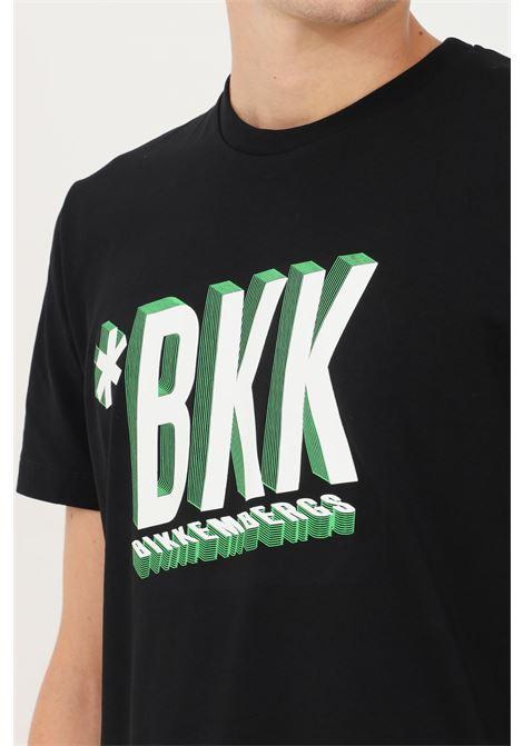 T-shirt uomo nero bikkembergs a manica corta con stampa frontale BIKKEMBERGS | T-shirt | C410148E2296C74