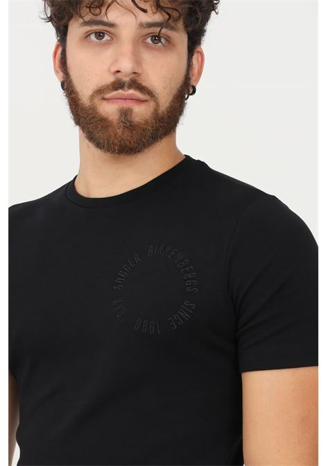 T-shirt uomo nero bikkembergs a manica corta BIKKEMBERGS | T-shirt | C412002E2298C74