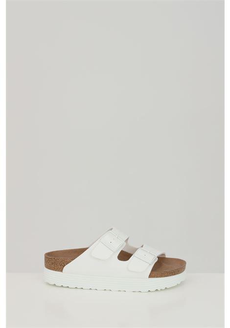 Ciabatte ARIZONA GROOVED WHITE donna bianco birkenstock con fibbie regolabili BIRKENSTOCK | Ciabatte | 1018581.