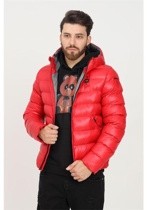 Giubbotto uomo rosso blauer con cappuccio BLAUER | Giubbotti | 21WBLUC02079005958552