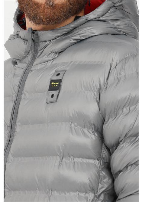 Giubbotto uomo grigio blauer con cappuccio e zip BLAUER | Giubbotti | 21WBLUC02209006100924