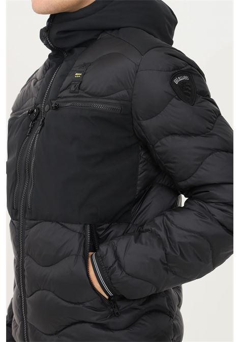Giubbotto usa uomo nero blauer con cappuccio BLAUER | Giubbotti | 21WBLUC03060006047999