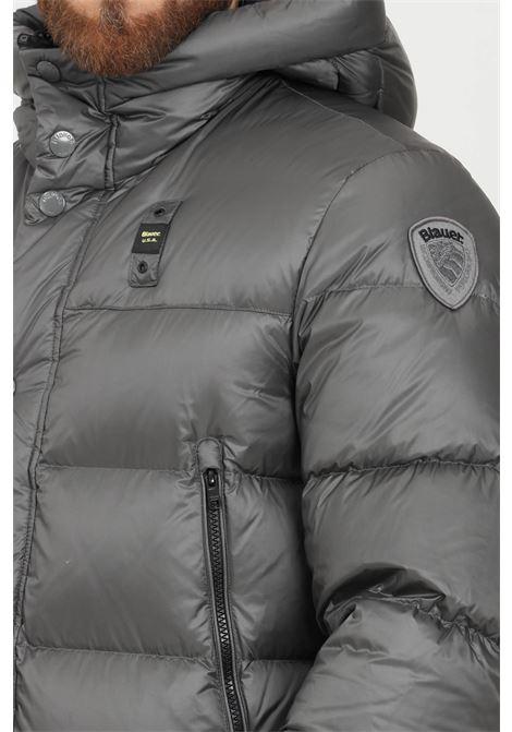 Giubbotto trapuntato uomo grigio blauer con cappuccio BLAUER | Giubbotti | 21WBLUC03069006047924NI