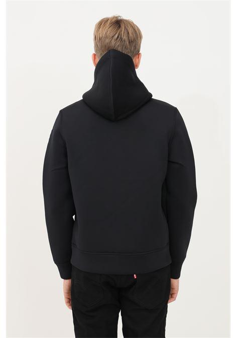 Felpa uomo nero blauer con cappuccio e zip BLAUER | Felpe | 21WBLUF02224004745999