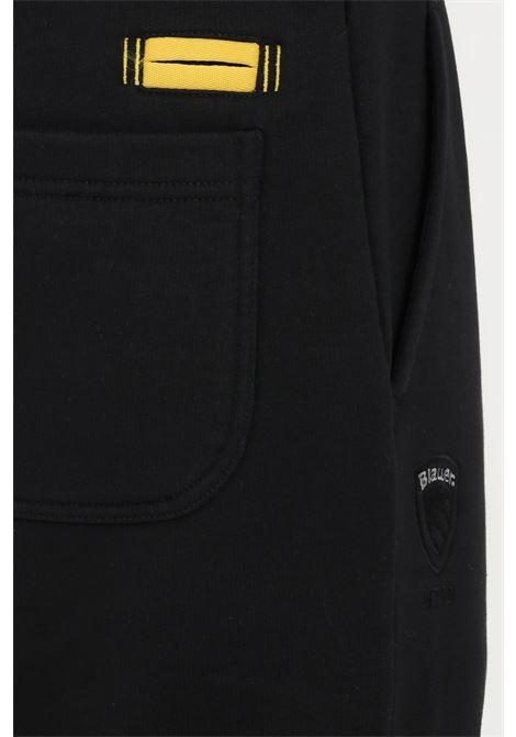 Pantaloni uomo nero blauer modello casual con elastico in vita BLAUER | Pantaloni | 21WBLUF07294005787999