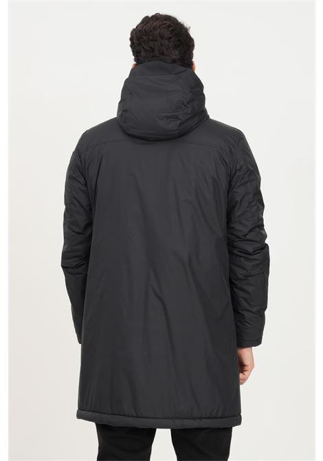 Giubbotto uomo nero blauer con cappuccio regolabile e pelliccetta interna BLAUER | Giubbotti | 21WBLUK02440006007999