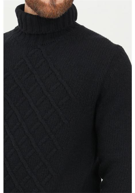 Maglione uomo nero blauer a collo alto BLAUER | Maglieria | 21WBLUM04228006097999