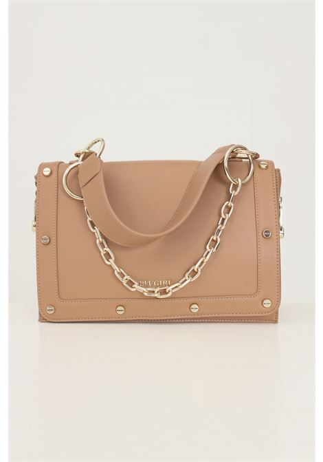 Beige women's bag by blumarine with fabric and chain handle Blumarine | Bag | 713B4BA4ZG046604