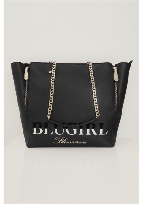 Black women's shopper by blumarine, adjustable model with side zip Blumarine | Bag | 713B4BD1ZG048899