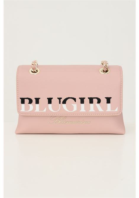 Pink women's bag by blumarine with fabric and chain shoulder strap Blumarine | Bag | 713B4BD4ZG048409