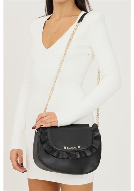 Black women's bag by blumarine with removable and adjustable shoulder strap in fabric and chain Blumarine | Bag | 713B4BQ2ZG051899