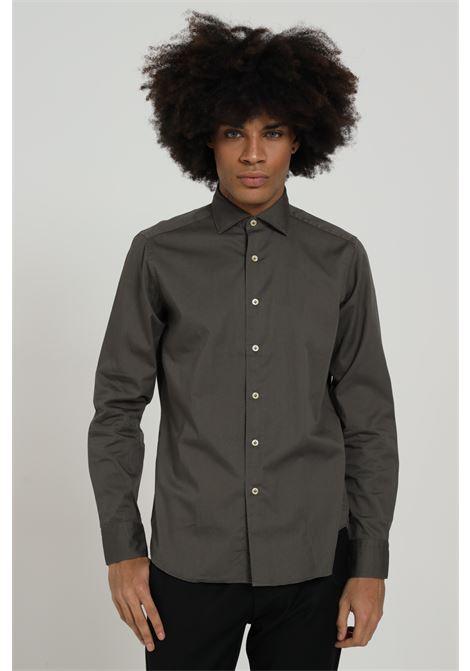 Camicia uomo grigio brancaccio caruso elegante BRANCACCIO CARUSO | Camicie | CDC1503