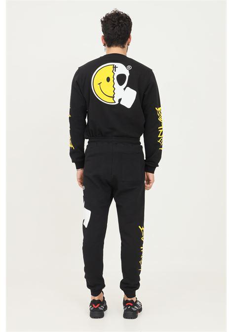 Pantaloni uomo nero but not modello casual con maxi smile laterale BUT NOT | Pantaloni | U9498-344NERO
